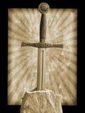 Espada na pedra Fotografia de Stock Royalty Free