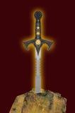 Espada na pedra Fotografia de Stock