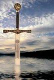 Espada no lago Imagem de Stock