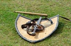 Espada y blindaje medievales Fotografía de archivo libre de regalías