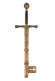 Espada y clave foto de archivo libre de regalías
