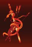 Espada y flecha de la serpiente Imagenes de archivo
