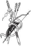 Espada y flecha de la serpiente Imagen de archivo libre de regalías