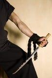 Espadachín del samurai Imagen de archivo libre de regalías