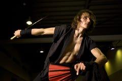 Espadachín del samurai Fotografía de archivo libre de regalías