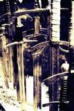 Espadas antigas imagens de stock
