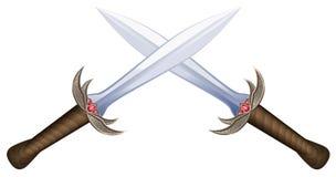 Espadas cruzadas Imagem de Stock Royalty Free