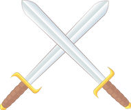 Espadas cruzadas Foto de archivo