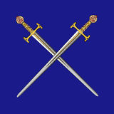 Espadas cruzadas vetor Foto de Stock