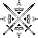Espadas da fantasia Imagem de Stock