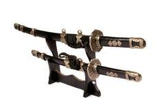 Espadas de Katana Fotos de archivo libres de regalías