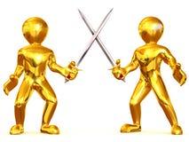 Espadas de la batalla stock de ilustración