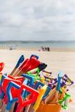 Espadas de la playa Foto de archivo libre de regalías