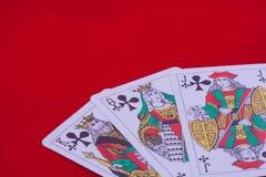 Espadas de las tarjetas que juegan Fotos de archivo