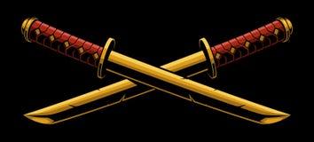 Espadas del tanto del katana o Fotografía de archivo