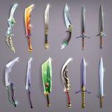 Espadas do vetor ajustadas Fotografia de Stock Royalty Free