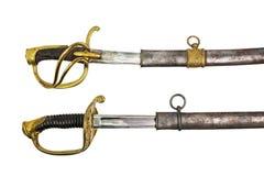 Espadas dois Imagem de Stock Royalty Free
