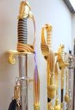 Espadas douradas Imagem de Stock Royalty Free