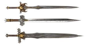 Espadas em um fundo branco ilustração 3D ilustração royalty free