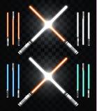 Espadas leves Star Wars Armas de laser, espada do laser, espada de néon Fotografia de Stock Royalty Free