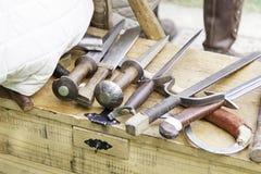 Espadas medievais antigas Fotografia de Stock