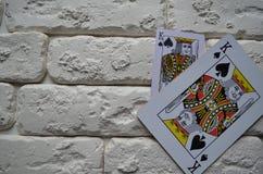 Espadas reales del flash del casino de las tarjetas que juegan póker casino imagen de archivo libre de regalías
