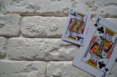 Espadas reales del flash del casino de las tarjetas que juegan póker casino fotos de archivo libres de regalías