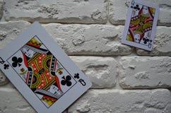 Espadas reales del flash del casino de las tarjetas que juegan póker casino foto de archivo