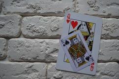 Espadas reales del flash del casino de las tarjetas que juegan póker casino fotografía de archivo libre de regalías