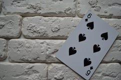 Espadas reales del flash del casino de las tarjetas que juegan póker casino imagen de archivo