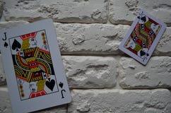 Espadas reales del flash del casino de las tarjetas que juegan póker casino foto de archivo libre de regalías