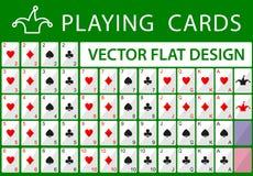 Espadas reales del flash del casino de las tarjetas que juegan Fotos de archivo