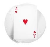 Espadas reales del flash del casino de las tarjetas que juegan Foto de archivo