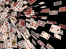 Espadas reales del flash del casino de las tarjetas que juegan Fotos de archivo libres de regalías