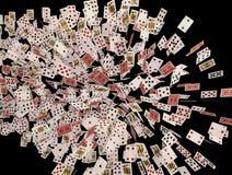 Espadas reales del flash del casino de las tarjetas que juegan Imagen de archivo libre de regalías