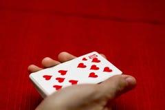 Espadas reales del flash del casino de las tarjetas que juegan fotografía de archivo libre de regalías