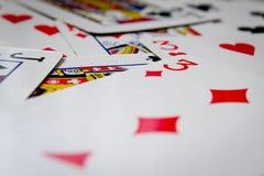 Espadas reales del flash del casino de las tarjetas que juegan Imágenes de archivo libres de regalías
