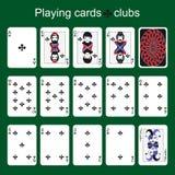Espadas reales del flash del casino de las tarjetas que juegan clubs Imagen de archivo