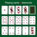 Espadas reales del flash del casino de las tarjetas que juegan Diamantes Fotos de archivo