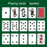 Espadas reales del flash del casino de las tarjetas que juegan espadas Fotos de archivo libres de regalías