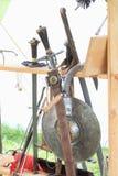 Espadas y blindaje Foto de archivo libre de regalías