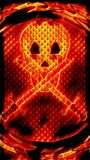 Espadas y cráneo en las llamas libre illustration