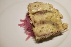 Espadons rôtis avec des miettes de pain Image stock