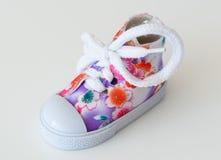 Espadrille de chaussure de bébé Image stock
