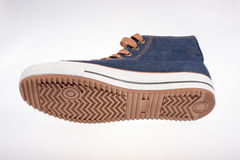 Espadrille de denim Photographie stock