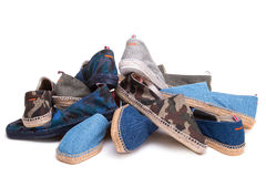 Espadrille isolated on white Royalty Free Stock Photography