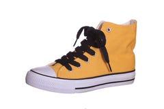 Espadrille jaune Photographie stock libre de droits
