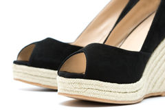 Espadrille sandals Stock Images