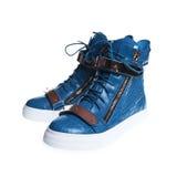 Espadrilles élégantes bleues Image libre de droits