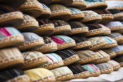 Espadrilles. (sandal) shooted at a yard sale, traditional gaucho shoe Royalty Free Stock Image